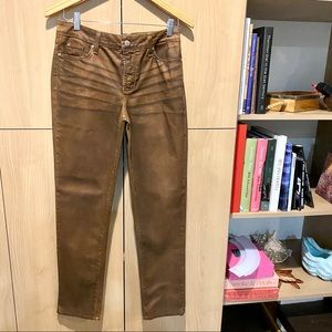 NYDJ leather look jeans
